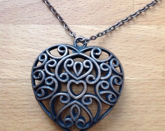Antique brass copper braveheart necklace