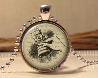Alice in wonderland Jewelry. Alice Necklace .Alice in wonder land art pendant jewelry(Alice #5)
