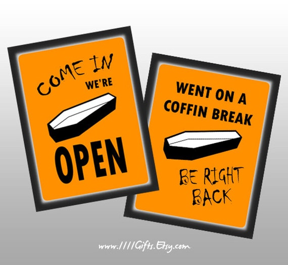 2Sided Printable Halloween Door Sign Come In ~ 045651_Halloween Door Signs Printable