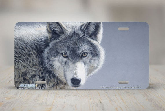 3516wolf wolf front license plate wolf car. Black Bedroom Furniture Sets. Home Design Ideas