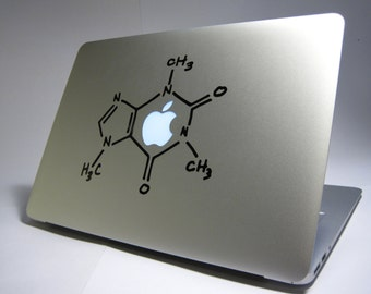 Laptop decal – Laptop Sticker – Macbook Pro decal – Macbook Air decal – Car window – Hipster - Coffee molecule