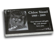 """Standard Pet Grave Marker Headstone (Small 7"""" x 4"""" x 1"""") for Dogs & Cats"""