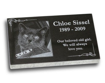 "Standard Pet Grave Marker Headstone (Small 7"" x 4"" x 1"") for Dogs & Cats"