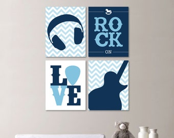 Baby Boy Nursery Art - Baby Boy Nursery Decor - Rockstar Nursery Art - Rockstar Nursery - Rock and Roll Nursery - Rockstar Bedroom (NS-566)