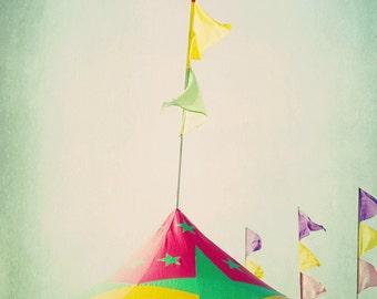 Flags Tent Carnival Fair Nursery Home Decor Wall Art Fine Art Photography