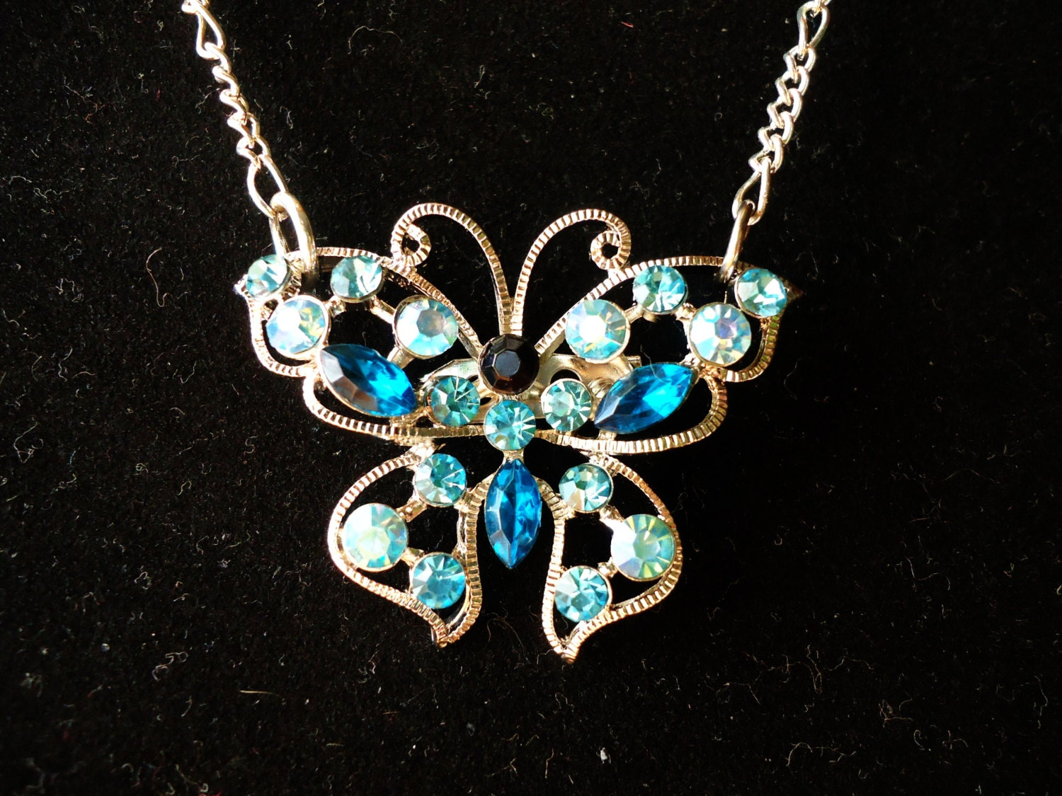 Blue Butterfly Jewelry: Unavailable Listing On Etsy