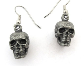 Human Skull Earrings