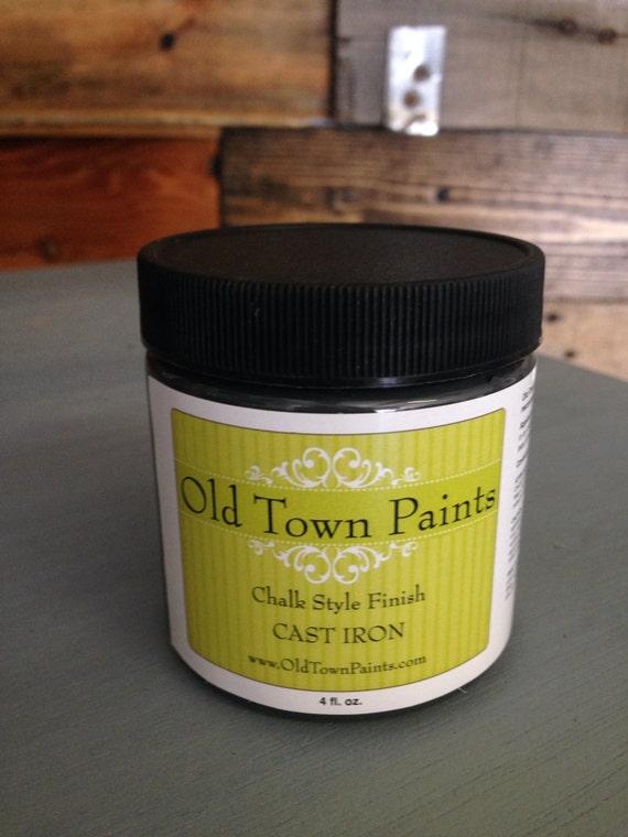 old town paints chalk paint 4 oz cast iron