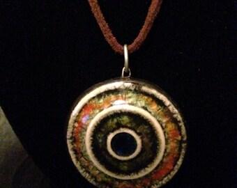 Concentric circles pendant