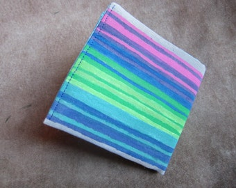 Candy Colors Retro Stripe Painted Wallet