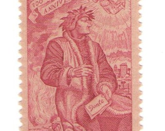 10 Unused 1965 Dante - Vintage Postage Stamps Number 1268