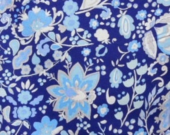 Sunshine Linen  - Bellflower - Navy by Dena Designs for Free Spirit Fabrics