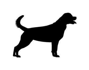 Rottweiler Dog Silhouette Custom Die Cut Vinyl Decal Sticker - Choose your Color and Size