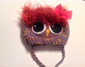 Instructions for Owlet Hat Knit Pattern