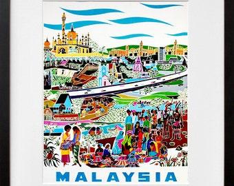Malaysia Travel Poster Asian Wall Art Print (ZT320)