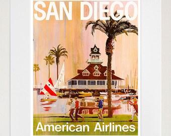 San Diego Travel Poster California Wall Art Print Home Decor (ZT609)