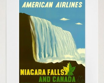 Niagara Falls Art Wall Decor Retro Canada Travel Poster  (ZT516)