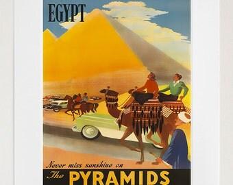Egypt Art Vintage Travel Poster Print Home Egyptian Wall Decor (XR242)