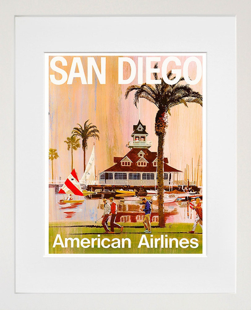 San Diego Travel Poster California Wall Art Print Home Decor