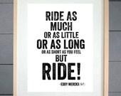 EllieBeanPrints Eddy Mercx But Ride Cycling Print - Various Sizes