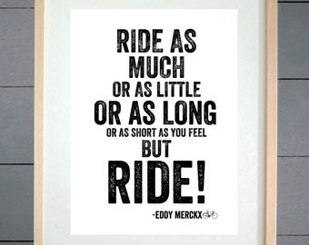 EllieBeanPrints Eddy Mercx But Ride Cycling Print - Various Sizes