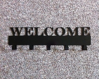 Welcome Metal Key Holder Hand Made Welcome Key Hanger
