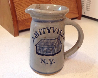 Amityville N.Y. Personalized Stoneware Pitcher