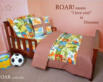 Dinosaur Toddler Bedding # Designer Michael Miller Dino Roars