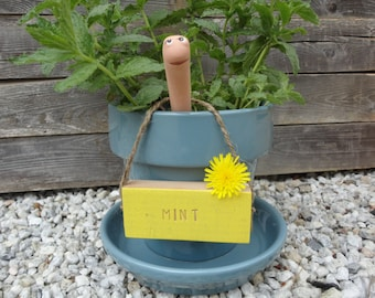 Plant Markers With Twine, Vegetable Herb Garden Tags, Custom Cedar Wood Signs, Untreated