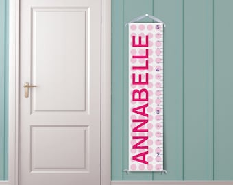 Pink Polka Dots Personalized Growth Chart