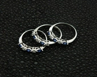 ladies,unique,3,set,design,ring,made,from,925,sterling,silver,CZ,rhodium,plated,jewelry,gift,box