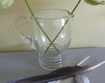 Glass Ribbed Jug