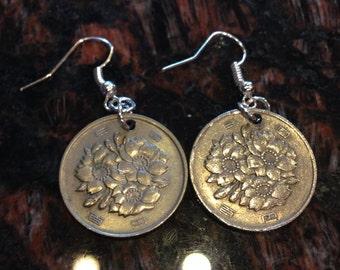 Japan 100 Yen Coin Earrings