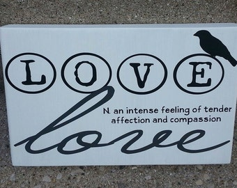 Definition of Love Home Decor