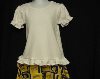 Toddler 3T  Purple and Gold Skirt