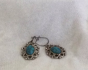 Vintage Turquoise Stone Earrings