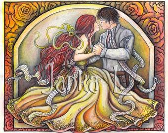 Original illustration - The First Kiss