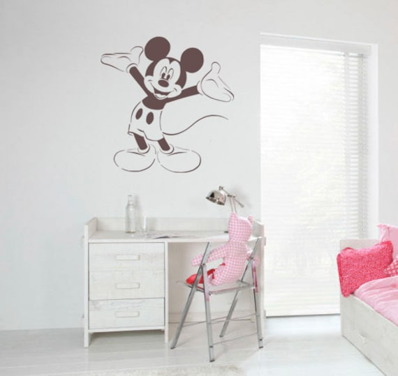 Disney mickey mouse pochoir r utilisable pour par createcuts for Pochoir chambre enfant