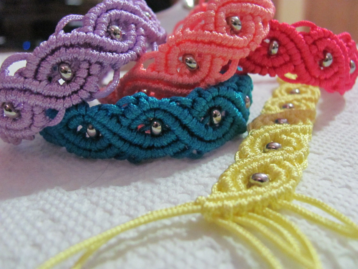 macrame jewelry patterns micro macrame eternal wave bracelet tutorial easy to follow 6335