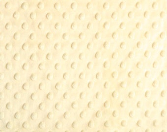 Vanilla Cuddle Minky Dot Fabric  (Shannon Fabrics) cream light yellow