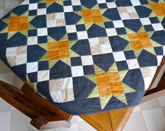 Pumpkins & Ghosts tabletop PDF sewing pattern - patchwork pattern - Arkansas Crossroads block pattern - instant download sewing pattern