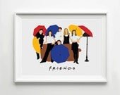Friends - TV Poster, Minimalist Wall Poster, Quote Print, Digital Art Print