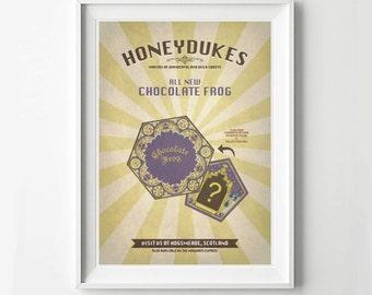 Harry Potter Vintage Poster - Honeyduke Advertisement, Digital Art Print, Movie Poster, HP Poster