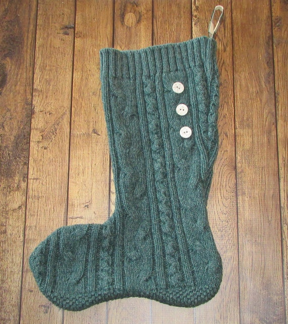 Cable Knit Christmas Stocking Pattern : Unavailable Listing on Etsy
