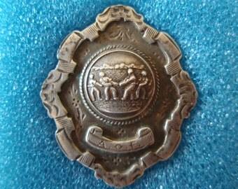 Tug of War 1934 Winner Medal Medallion Badge Silver Hallmarks Thomas Fattorin Limited Birmingham Collectible Medal L1262