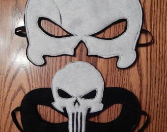 Punisher Felt Superhero Mask Costume - Any Size Avaliable