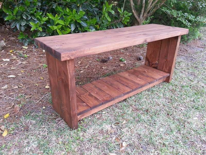 Rustic Decor Bench With Shoe Rack Shelf Boot By Coastaloakdesigns
