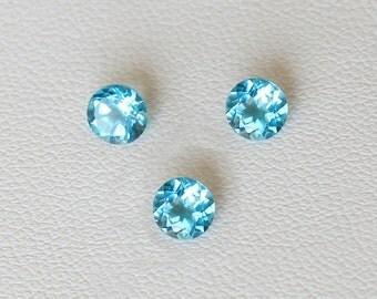 Round natural topaz cabs loose gemstone blue topaz crystal loose stone VVS