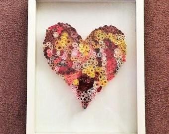 Framed Fabric Heart