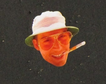 10 Pack of Hunter S. Thompson Fear and Loathing in Las Vegas Gonzo Festival Lapel Hat Pin